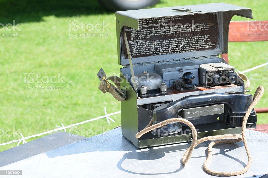 Vintage de campo Telefone - foto de acervo