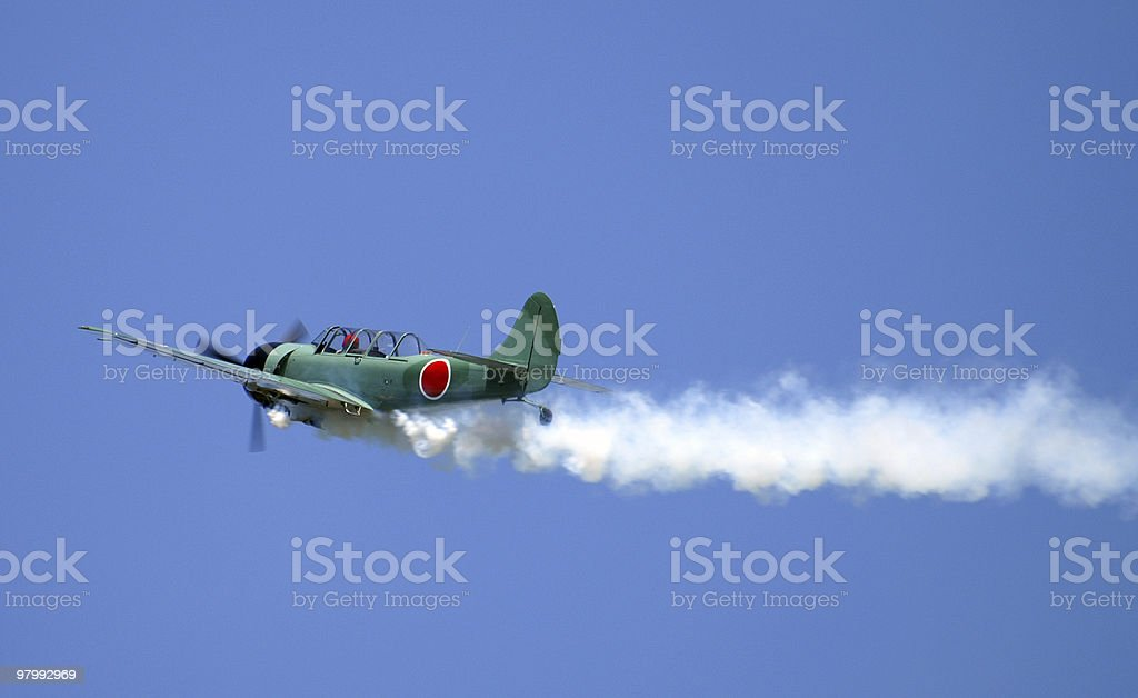 Vintage Fighter Plane royalty-free stock photo