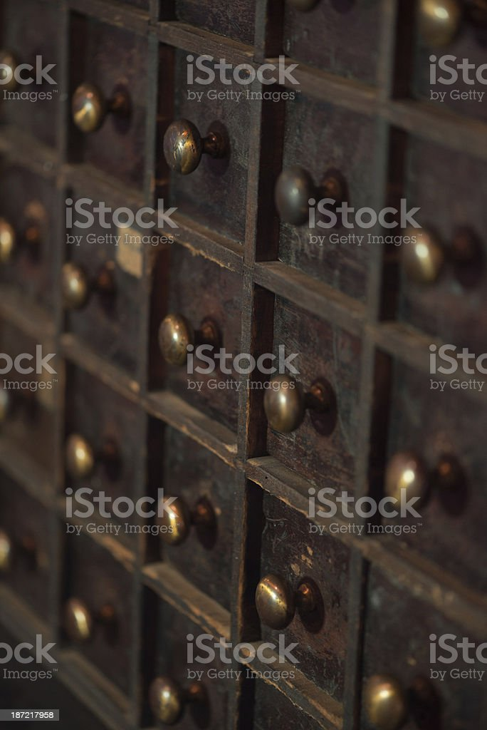 Vintage file cabinet royalty-free stock photo