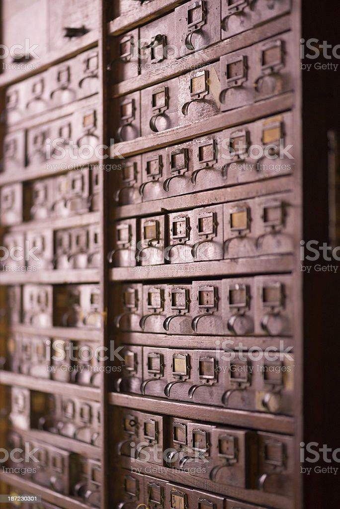 Vintage file cabinet stock photo