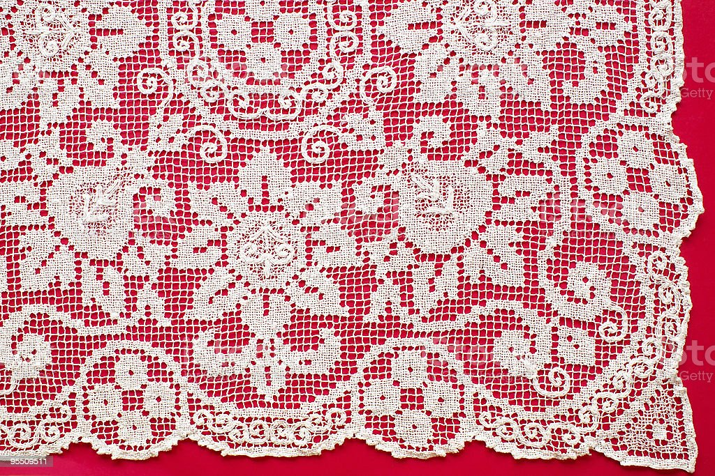 Vintage filet lace royalty-free stock photo