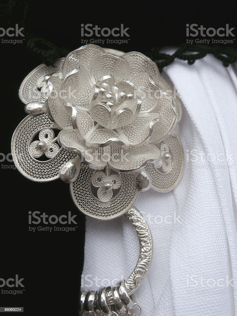 Vintage Filigree Brooch royalty-free stock photo