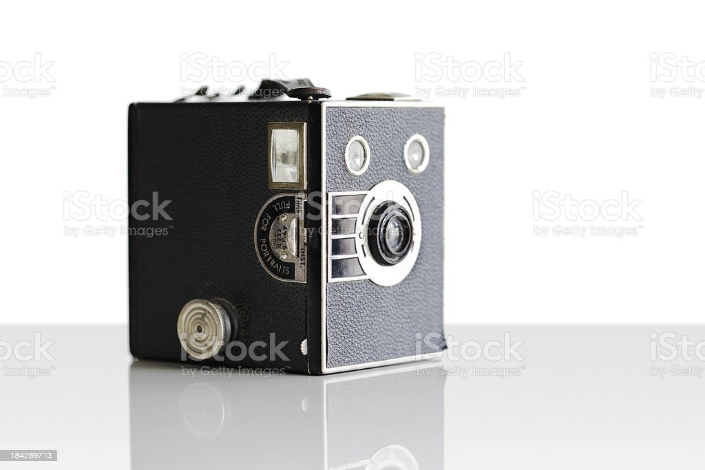 Vintage film box camera first introduced in 1900 royalty-free stock photo