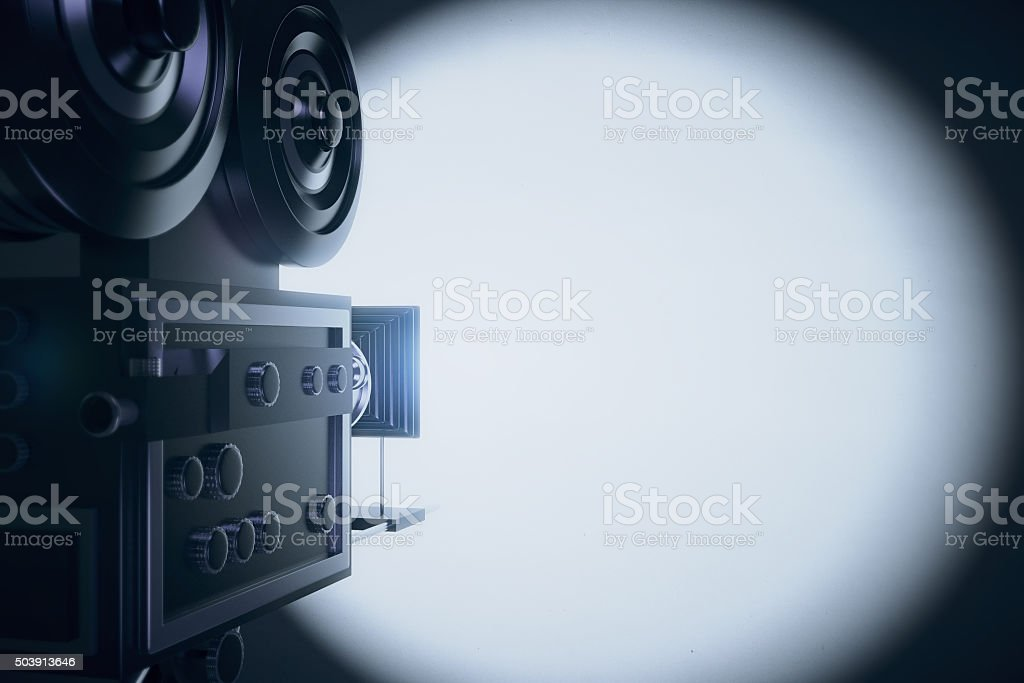 Vintage film camera is on duty stock photo