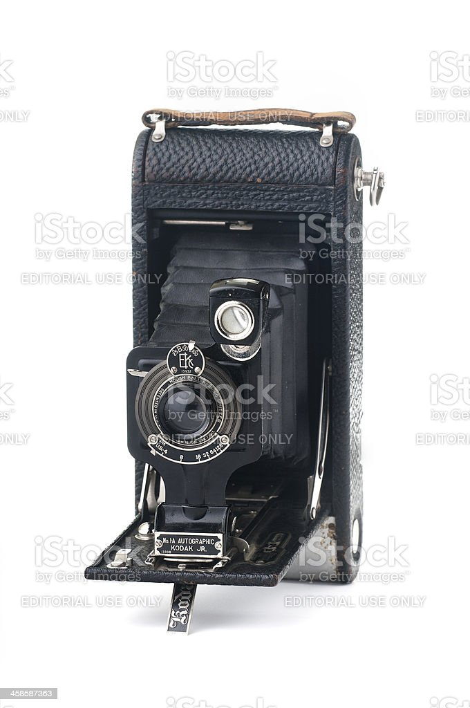 Vintage Film Camera, No. 1A Autographic Kodak Jr. royalty-free stock photo