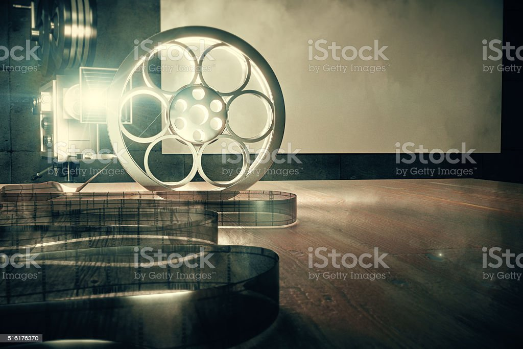 Vintage film camera with old style film cartridge stock photo