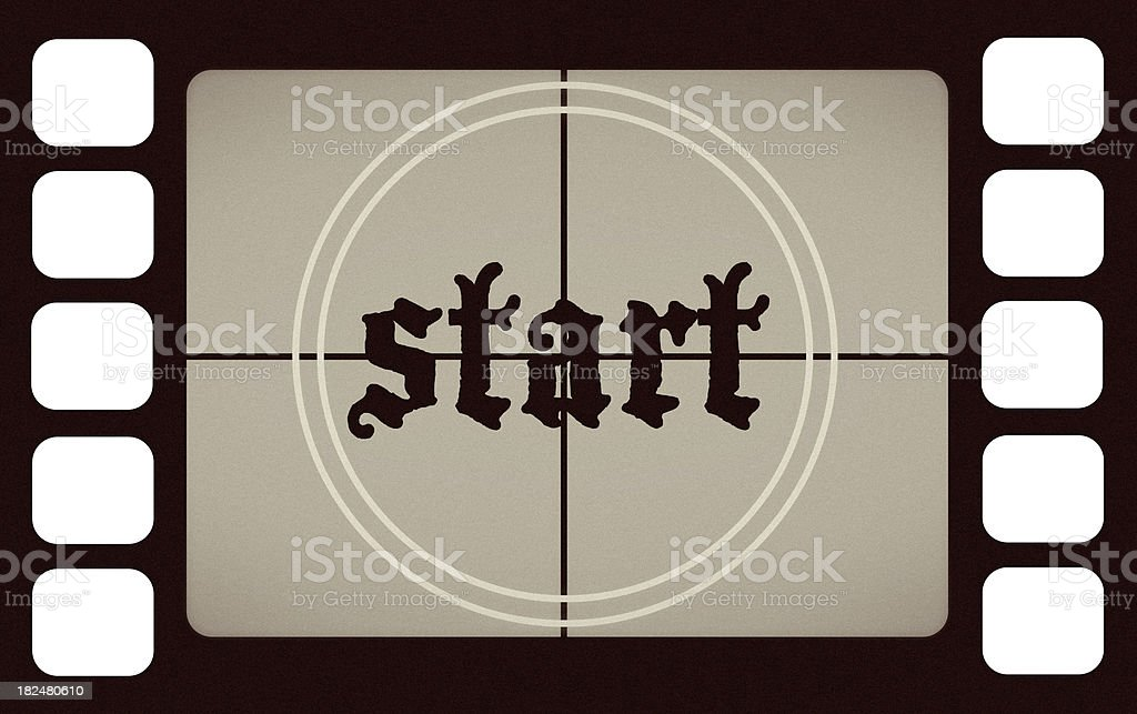 Vintage Film Leader Count START Screen royalty-free stock photo