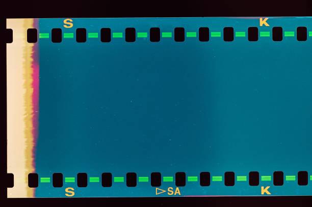 Vintage film light leak stock photo