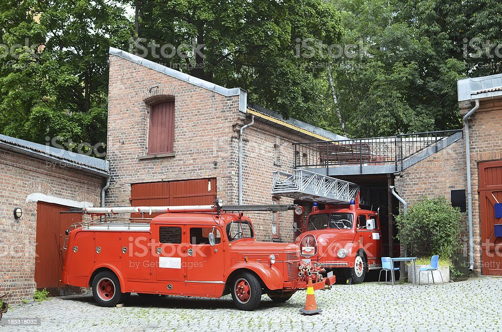 Vintage Fire Engine stock photo
