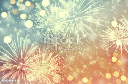 636207118 istock photo Vintage fireworks at New Year 626566948