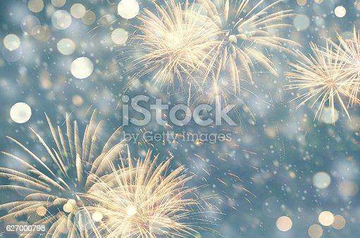 636207118 istock photo Vintage fireworks at New Year 627000798
