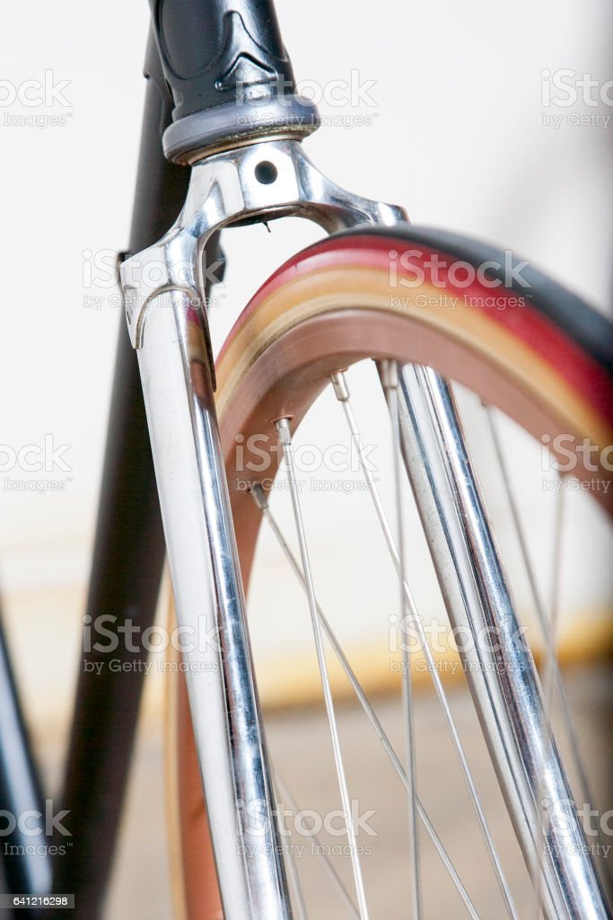Vintage fixed gear bicycle stock photo