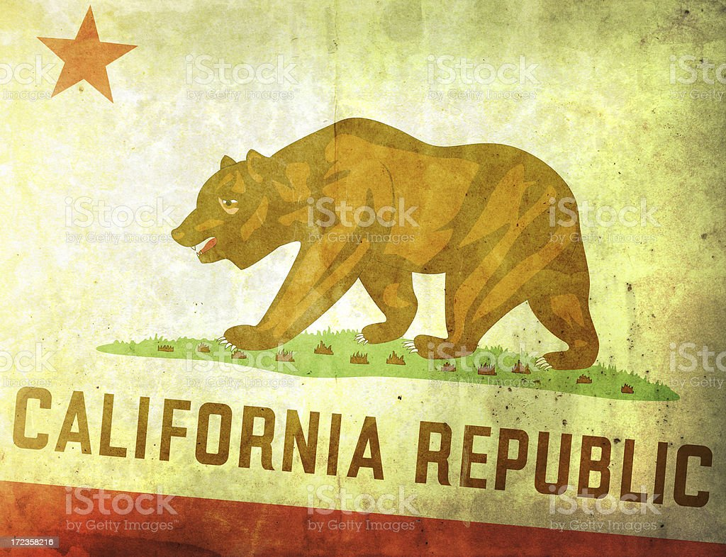 Vintage Flag - California royalty-free stock photo