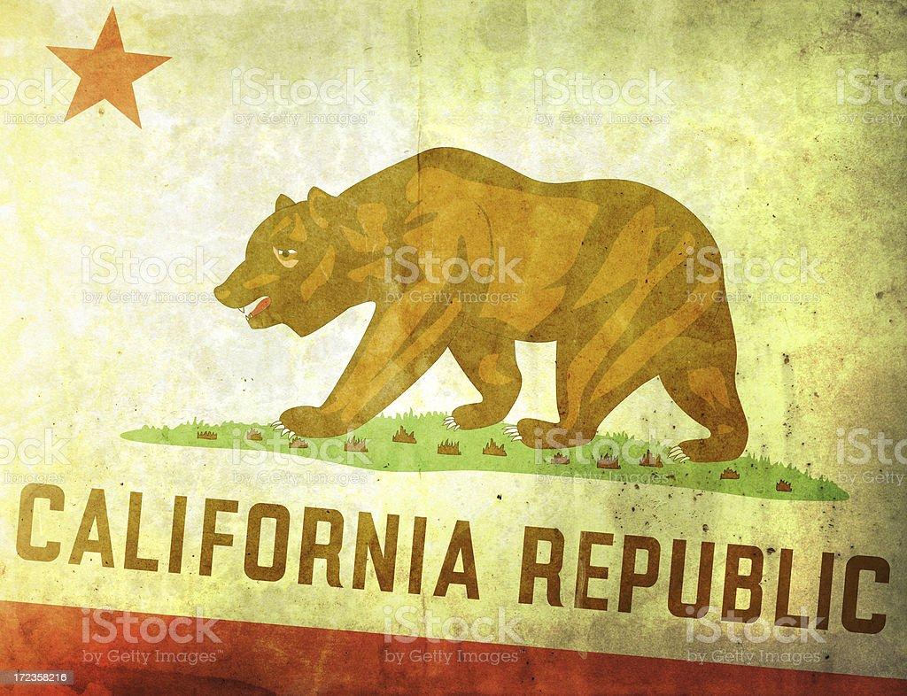 Vintage Flag - California stock photo