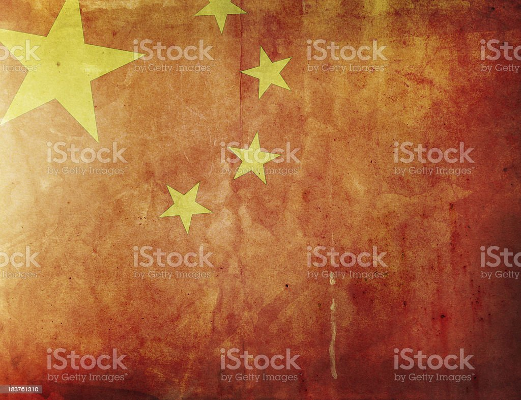 Vintage bandera de China - foto de stock