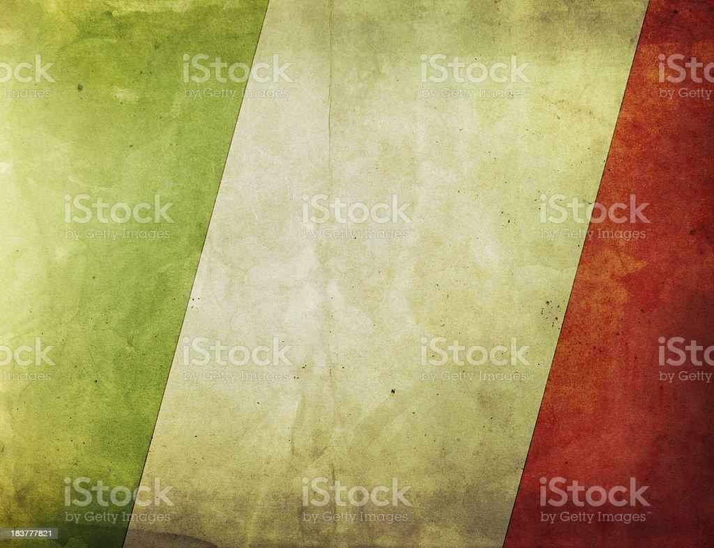 Vintage Flag - Italy royalty-free stock photo