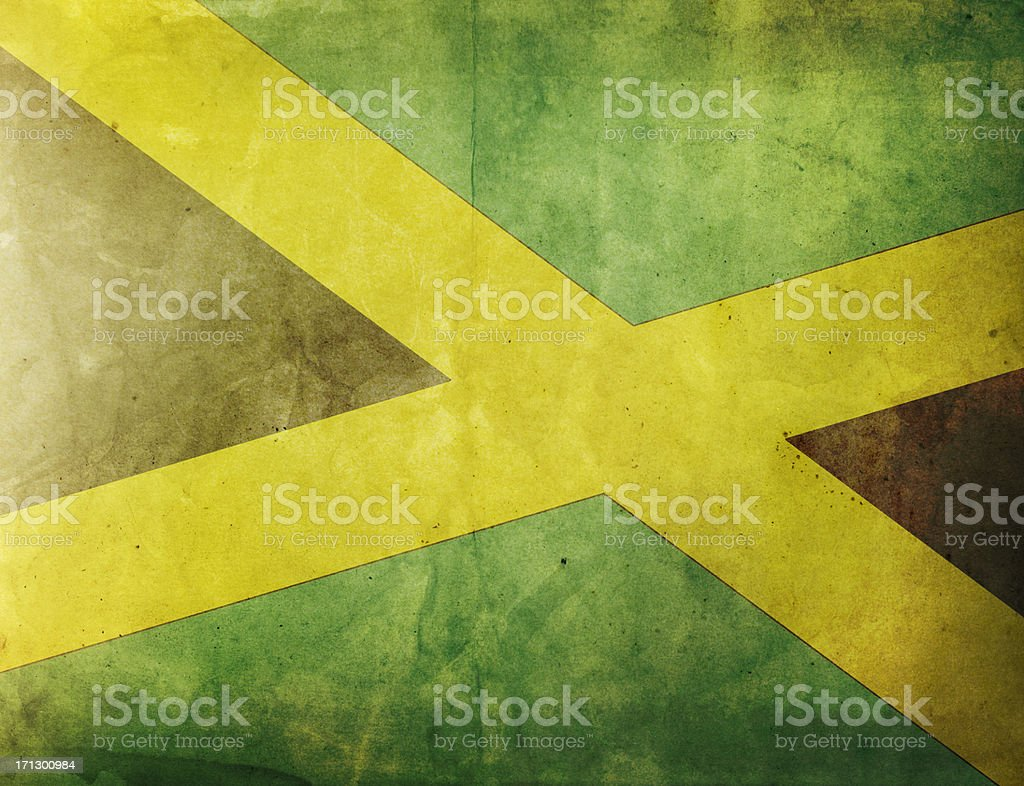 Vintage Flag - Jamaica stock photo