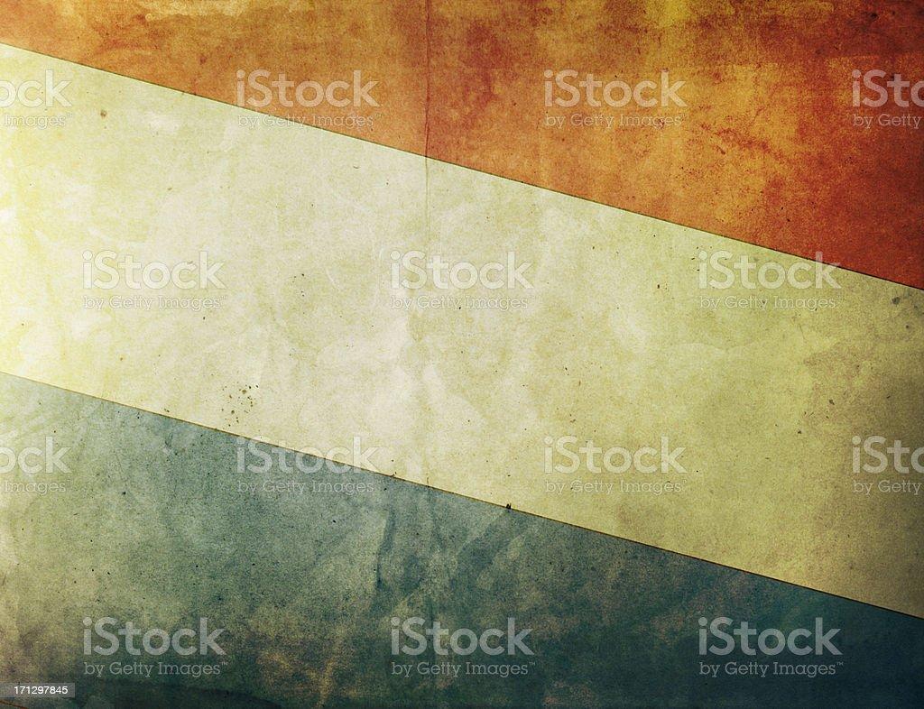 Vintage Flag - Netherlands royalty-free stock photo