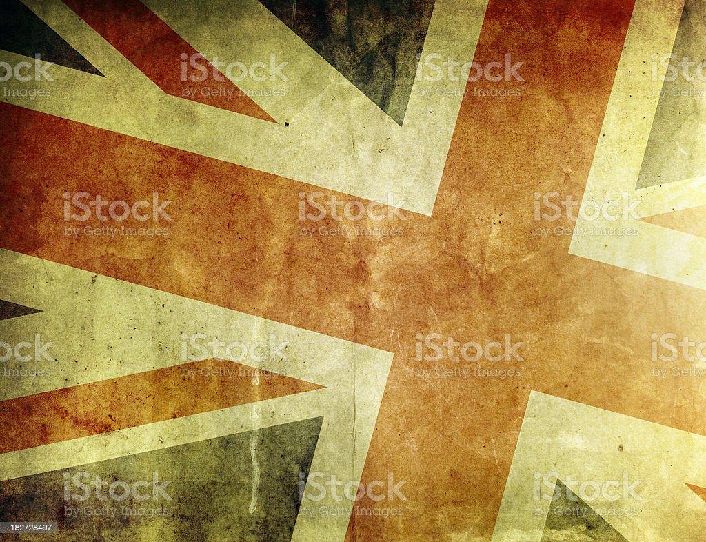 Vintage Flag of Britain stock photo