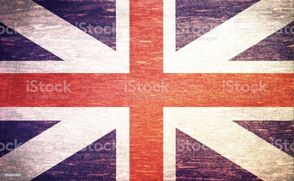 vintage flag of United Kingdom royalty-free stock photo