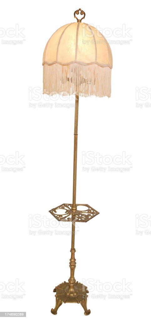 vintage floor lamp from the 50s stock photo