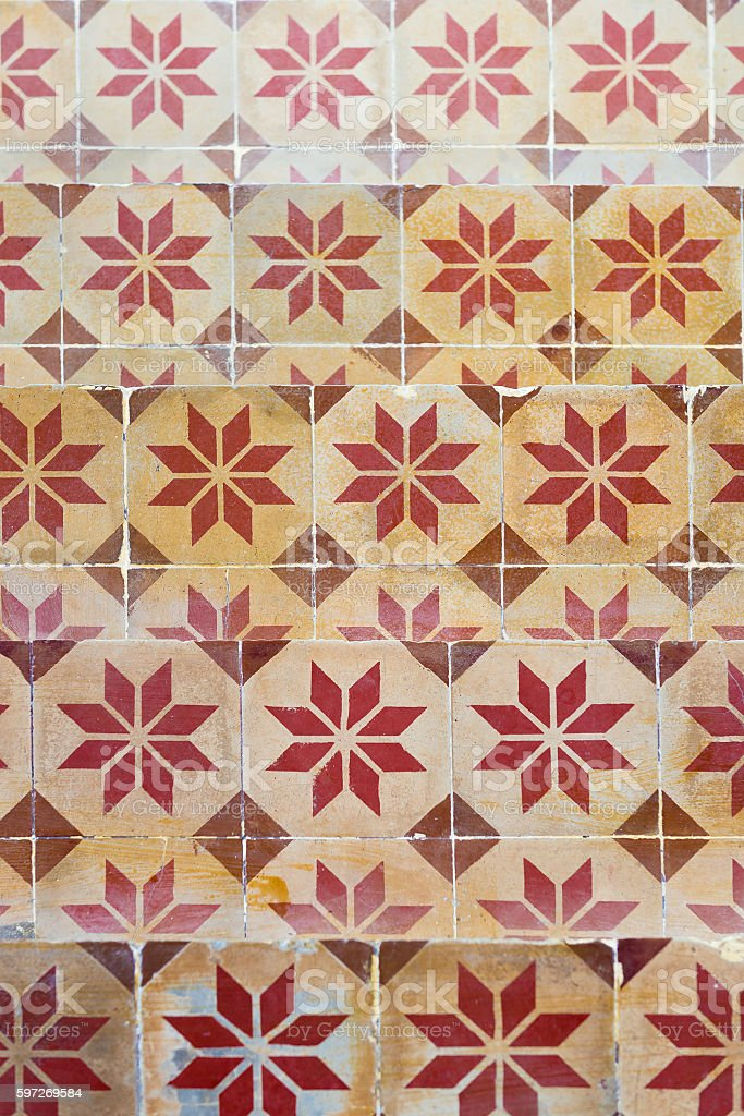 Vintage floor tile royalty-free stock photo