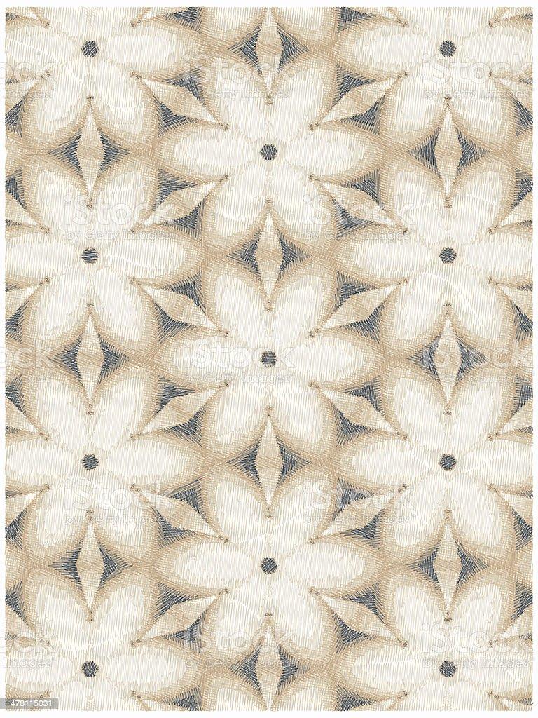 vintage flowers pattern royalty-free stock photo