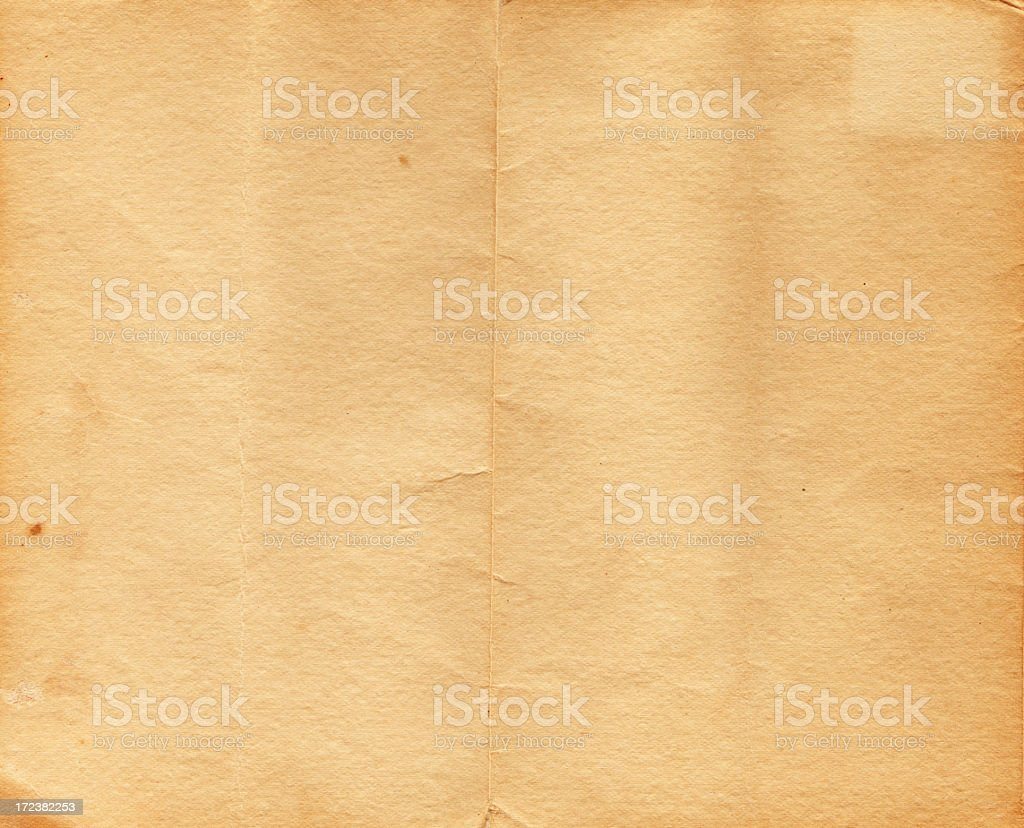 Vintage Folded Paper XXL royalty-free stock photo