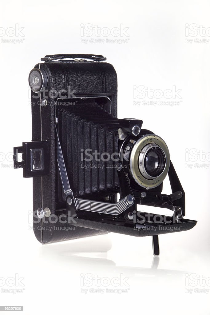Vintage Folder Bellows Camera royalty-free stock photo