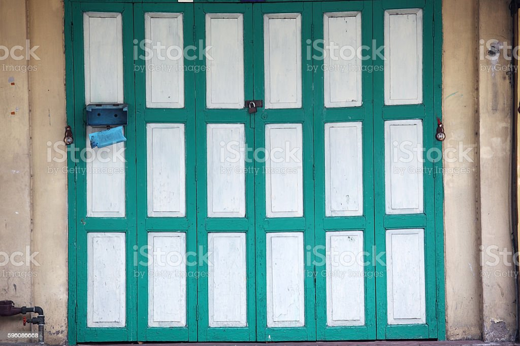 vintage folding door structure royalty-free stock photo