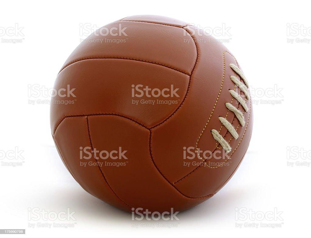 Vintage football ball royalty-free stock photo