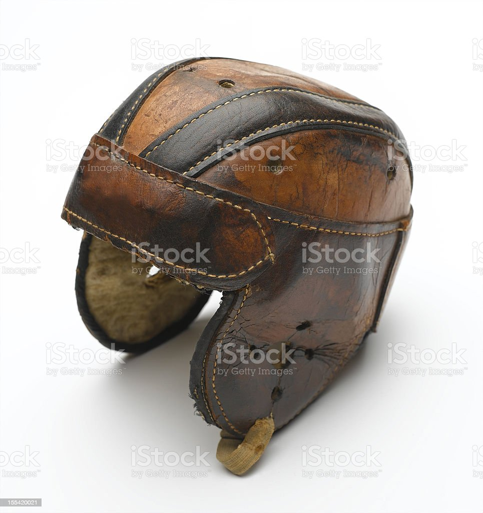 Vintage Football Helmet royalty-free stock photo