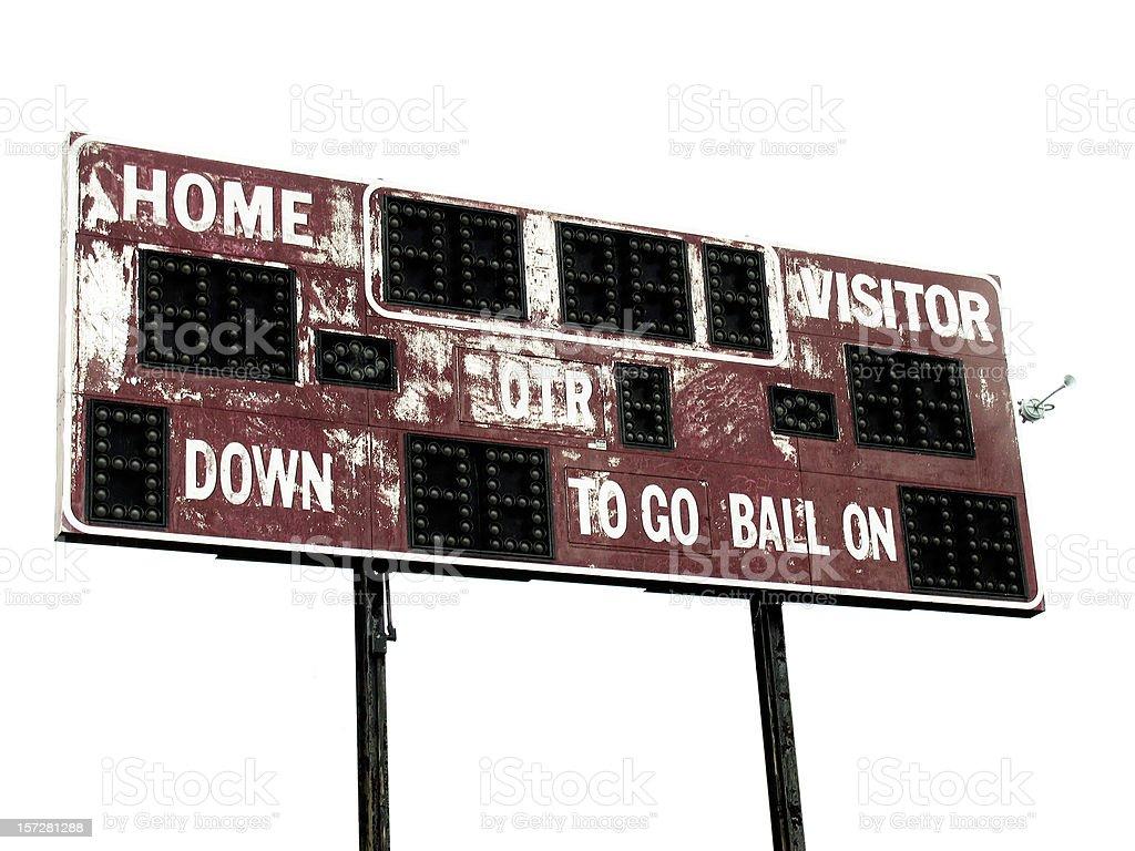 Vintage Football Scoreboard Stock Photo - Download Image Now