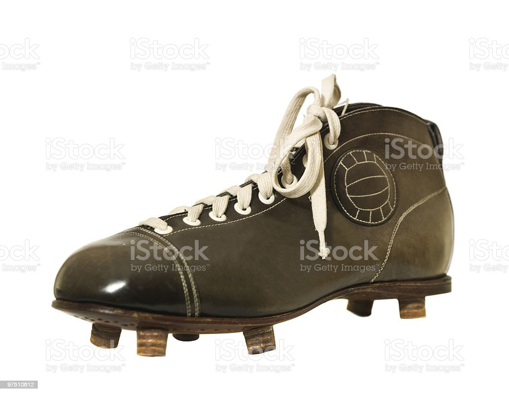 Vintage Football shoe royalty-free stock photo