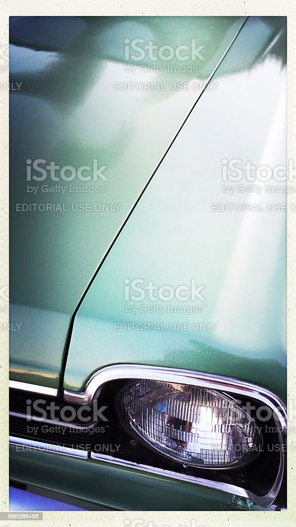 Vintage Ford Fairlane Car Detail stock photo
