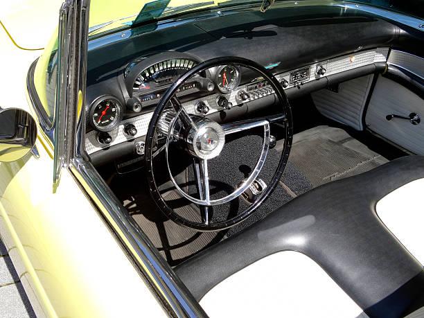 Vintage Ford Thunderbird dashboard stock photo