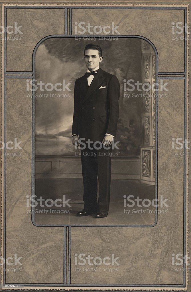 Vintage Formal Portrait Of Young Man royalty-free stock photo