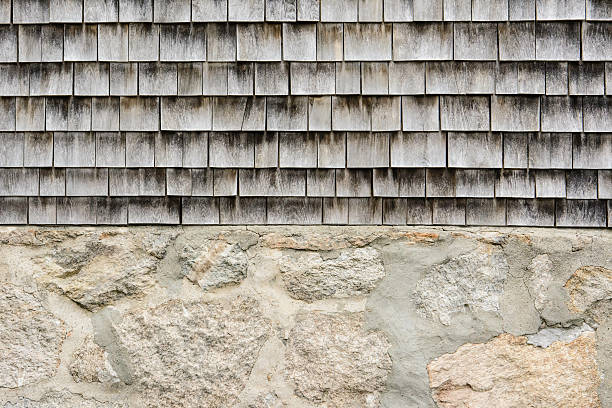 Vintage foundation and siding