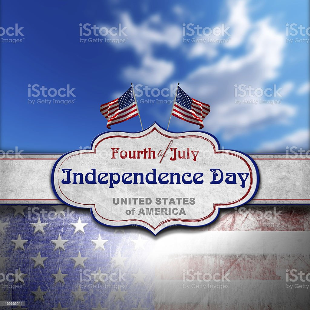 Vintage Fourth of July Independence Day royalty-free stock photo