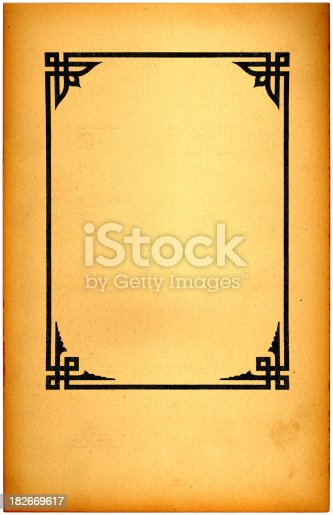 istock vintage frame and paper 182669617