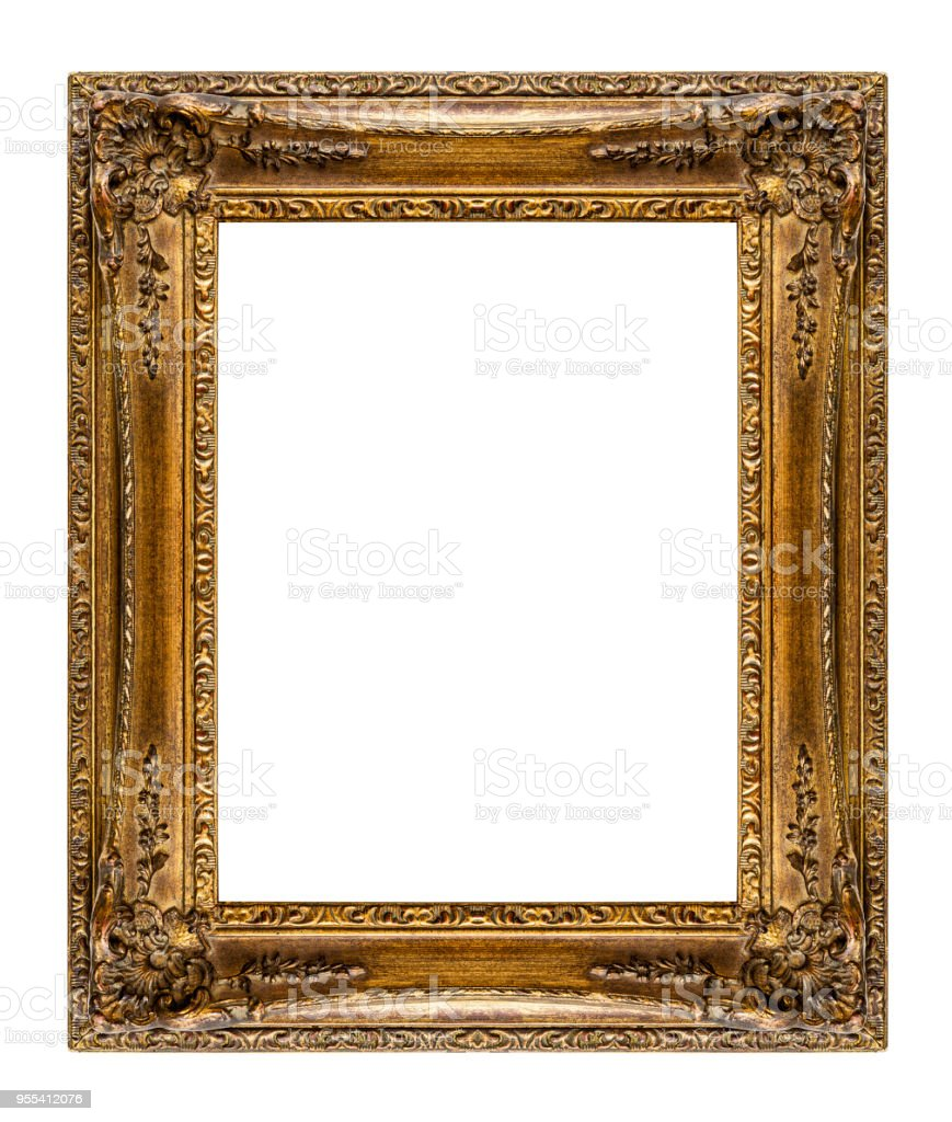 Vintage frame isolated on white background - Zbiór zdjęć royalty-free (Antyczny)