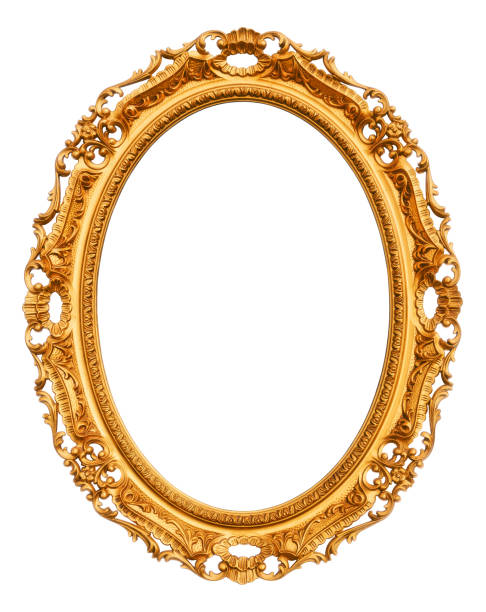 vintage frame - ellipse stock photos and pictures