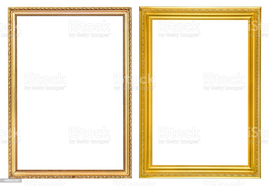 Vintage frames isolate stock photo
