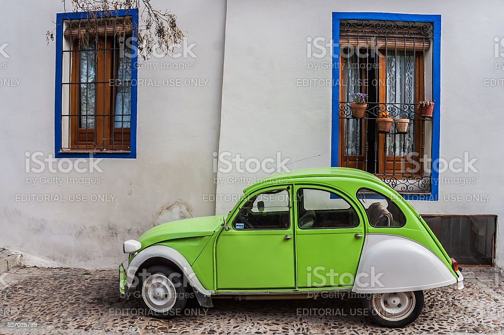 Vintage French car stock photo