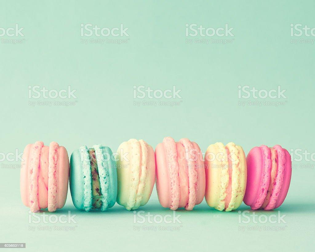 Vintage french macarons stock photo