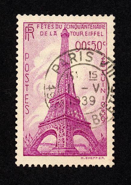 Vintage français Timbre 1939, mille petits détails. - Photo