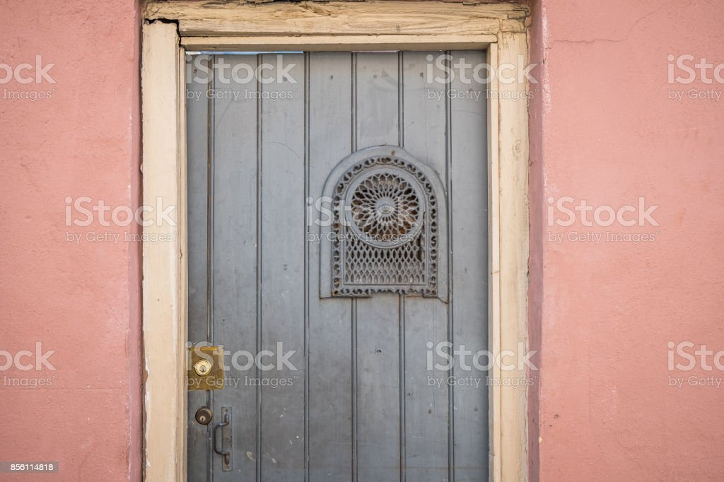 ... Vintage Front Door with Pink Wall stock photo ... & Detail Of Rustic Letterbox And Wooden Door Pictures Images and ... pezcame.com