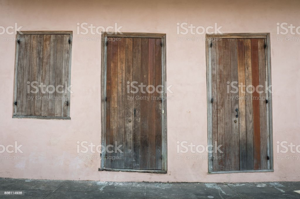 Vintage Front Doors Royalty Free Stock Photo