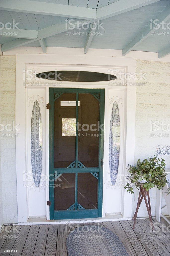 Vintage Front Screen Door stock photo