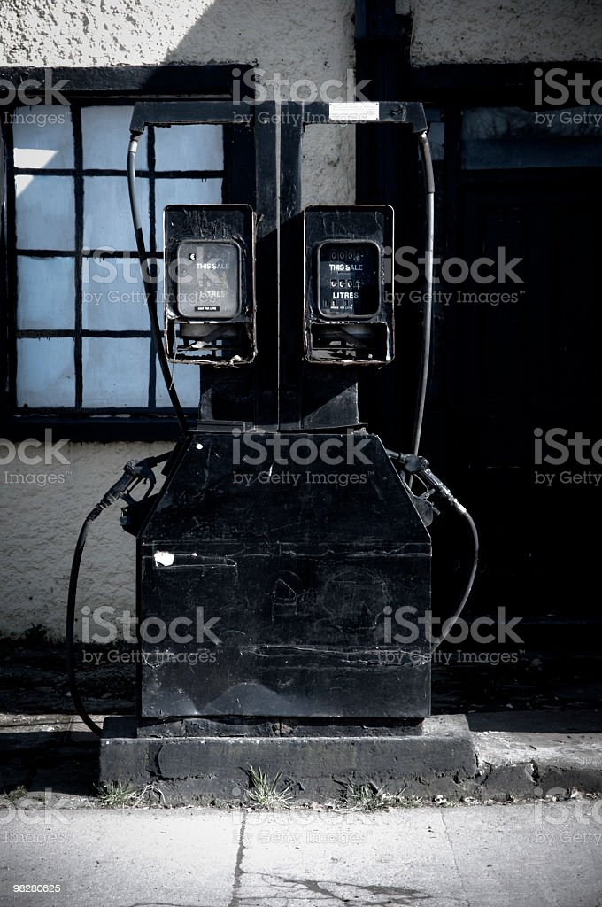 Vintage fuel pump royalty-free stock photo